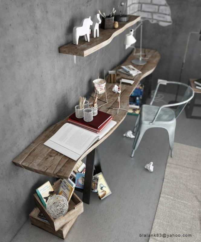 인더스트리얼 빈티지 침실 인테리어 디자인 :: 아파트 인테리어