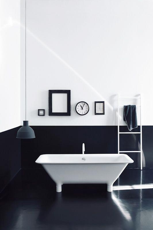 DIY/리폼 > 모던 화이트&블랙의 색감이 조화로운 욕실인테리어 ...