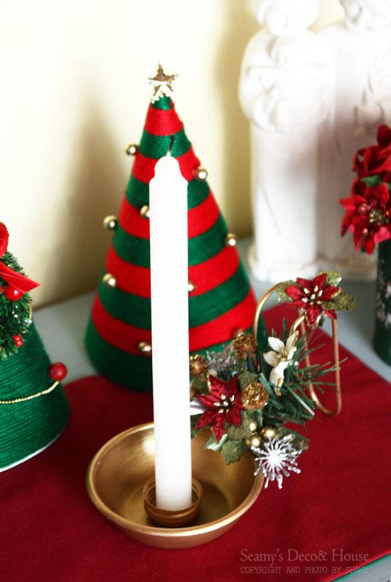 크리스마스 장식~ 뽑기국자로 만든 크리스마스 캔들홀더~