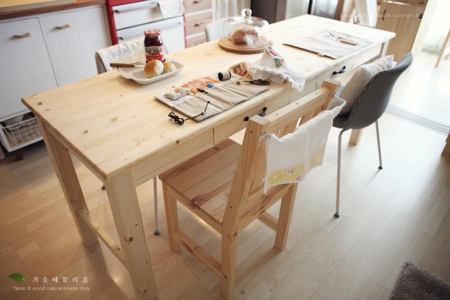원목식탁- 주방인테리어 수납가구 테이블 THEDIY