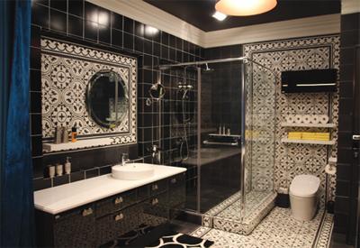 조인성 욕실, 키엔호 타일