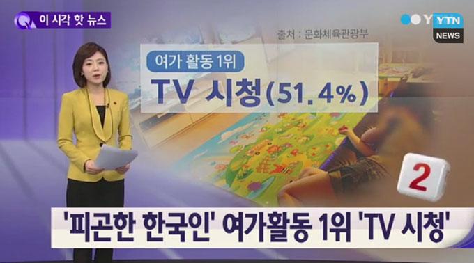 한국인 평일 평균 여가시간은 3.3시간 한달 평균 여가비용은 13만 원으로 조사됐다. / YTN뉴스 캡처