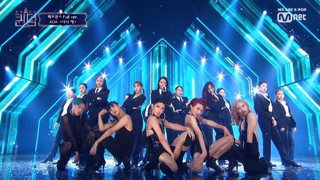 AOA가 '퀸덤'에서 마마무의 '너나 해'를 커버해 새롭게 재탄생 시켰다. /Mnet '퀸덤' 방송 캡처