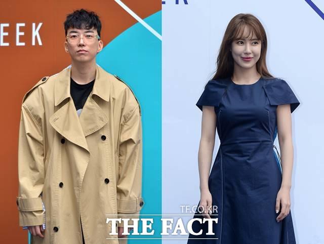 도상우(왼쪽)과 김윤서의 소속사 측은 \