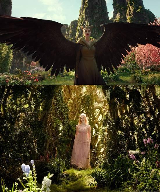 영화 '말레피센트2'에서는 안젤리나 졸리(위쪽)와 엘르 패닝이 다시 뭉쳤다. /월트디즈니컴퍼니 코리아 제공