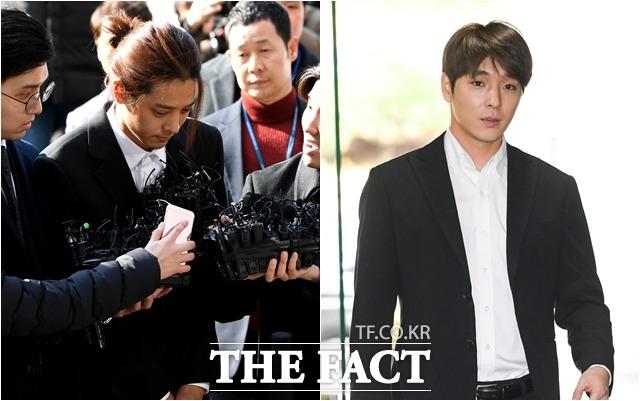 가수 정준영(왼쪽)과 최종훈이 중형을 구형받았다. /더팩트DB