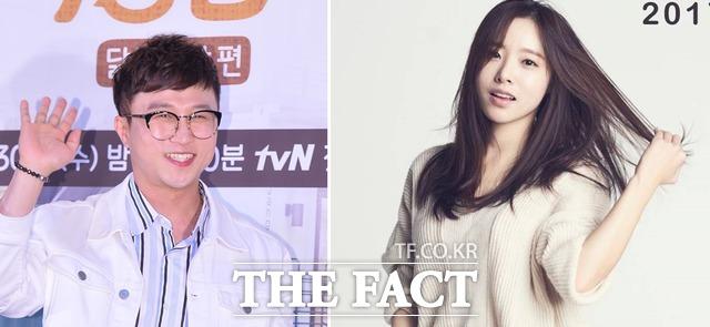 개그맨 박성광(왼쪽)의 예비 신부가 배우 출신 이솔이라는 사실이 알려졌다. /더팩트 DB, '이웃의 수정씨' 페이스북 캡처
