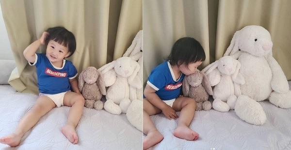장윤정과 도경완의 딸 하영이 '돌발진'을 앓아 입원했다 회복한 것으로 알려졌다. /도경완 인스타그램 캡처
