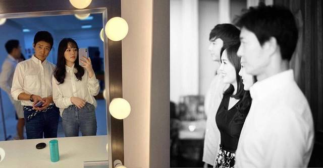 최수종이 24일 딸 최윤서 양과 함께 찍은 사진(왼쪽)을 공개했고 하희라는 앞선 지난 10일 흑백의 가족사진을 자신의 SNS에 올렸다. /최수종·하희라 SNS