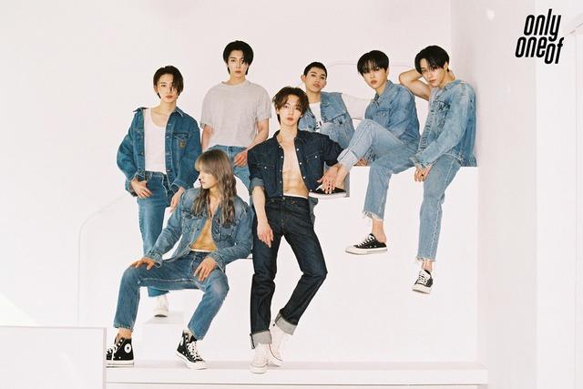 그룹 온리원오브가 8일 오후 3시 새 앨범 'Instinct Part. 1' 발매 기자간담회를 진행했다. 멤버들은 \