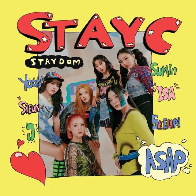 걸그룹 스테이씨의 두 번째 싱글 앨범 'STAYDOM(스테이덤)'이 초동 판매 수량 3만5518장을 기록했다. /하이업엔터테인먼트 제공