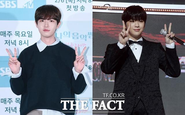 가수 김재환(왼쪽)은 세 번째 미니앨범 'Change(체인지)'를 강다니엘은 새 앨범 'YELLOW(옐로)'를 발매하며 한층 더 성장한 아티스트의 면모를 보였다. /더팩트 DB