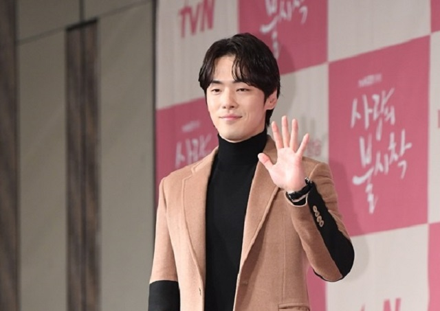 배우 김정현이 2020년 12월 서울 종로구 포시즌스 호텔에서 열린 tvN 드라마 '사랑의 불시착' 제작발표회에 참석하고 있다. /더팩트 DB