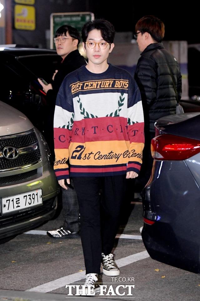 배우 이규성이 2019년 11월 서울 영등포구 한 음식점에서 열린 KBS2 드라마 '동백꽃 필 무렵' 종방연에 참석하고 있다. /더팩트 DB