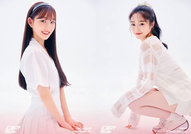 라잇썸 멤버 유정(왼쪽)과 히나의 프로필 사진이 공개됐다. 라잇썸은 올해 상반기 데뷔 예정이다. /큐브엔터 제공