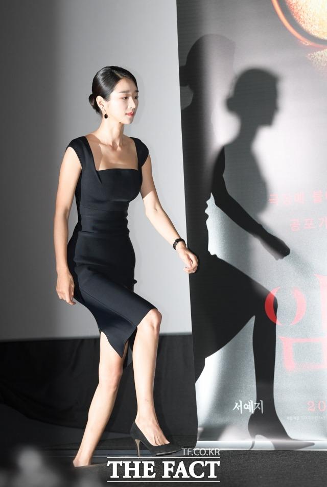배우 서예지가 지난 2019년 8월 서울 용산구 CGV 아이파크몰점에서 열린 영화 '암전'의 언론시사회에 입장하고 있다. /더팩트 DB