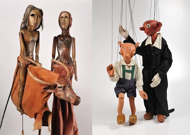 서울역사박물관에서 '나무 인형의 비밀-체코 마리오네트' 전시가 6월부터 8월까지 개최된다. 사진은 체코 인형 모글리와 스페이블과 후르비네크(왼쪽부터)다. /서울시 제공