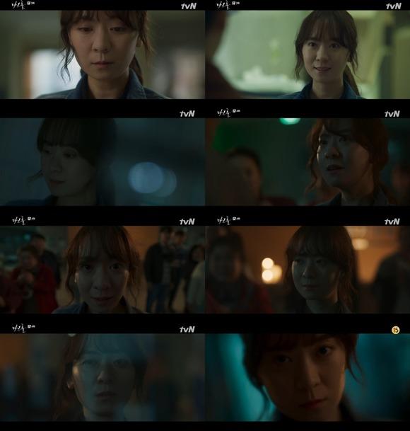배우 송상은이 7,8일 방송된 OCN 오리지널 '다크홀'에서 섬뜩한 연기로 존재감을 보여줬다. /방송 캡처