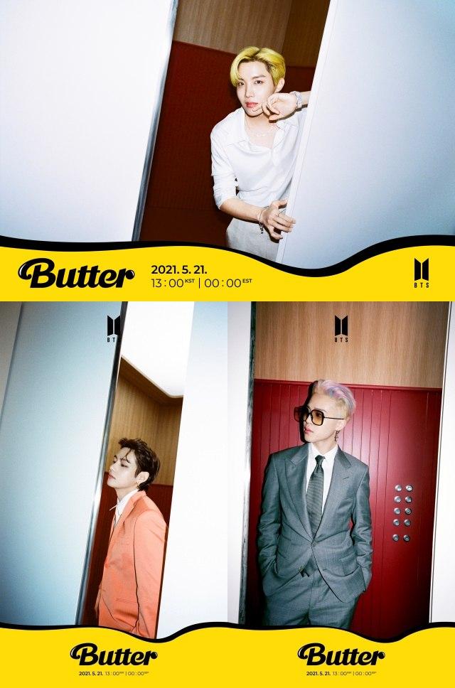 그룹 방탄소년단이 제이홉 뷔 지민의 개별 티저를 공개했다. '2021 빌보드 뮤직 어워드'를 통해 공개되는 신곡 'Butter'에 대한 기대감이 치솟고 있다. /빅히트 뮤직 제공
