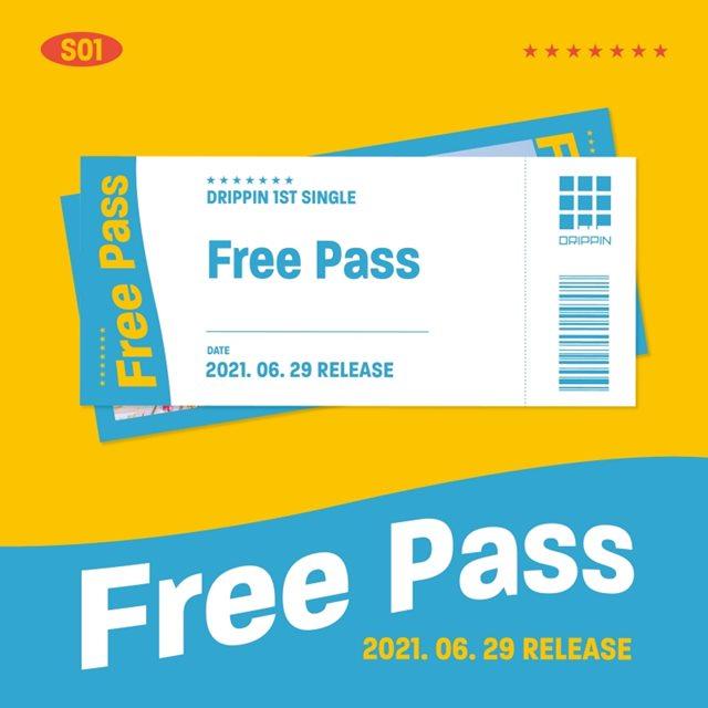 그룹 드리핀(DRIPPIN)이 6월 29일 첫 번째 싱글 '프리 패스(Fress Pass)'를 발매하고 컴백한다. /울림엔터테인먼트 제공